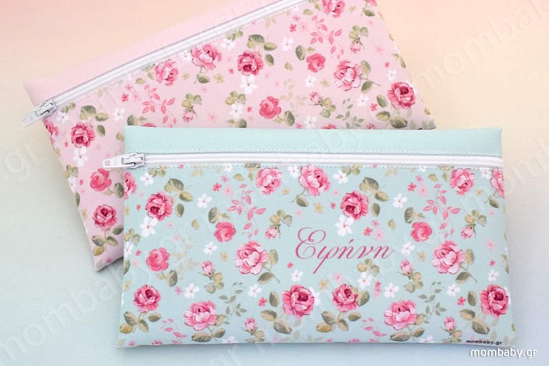 Floral vintage mint & pink
