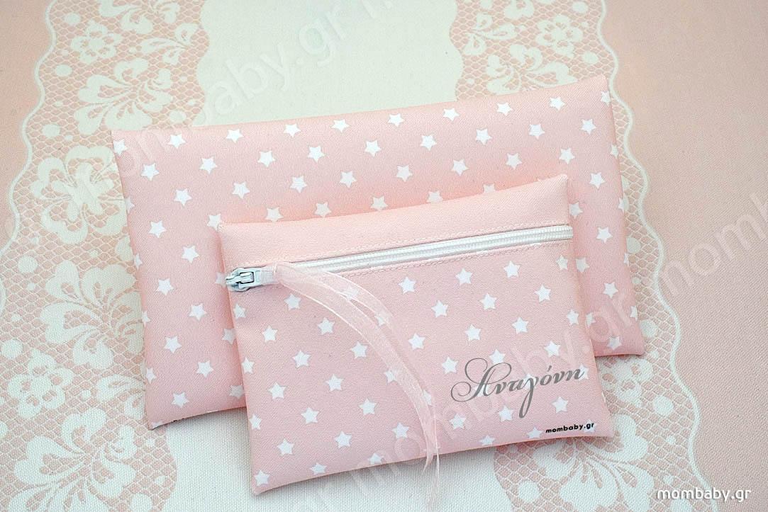 Λευκά Αστεράκια σε ροζ φόντο